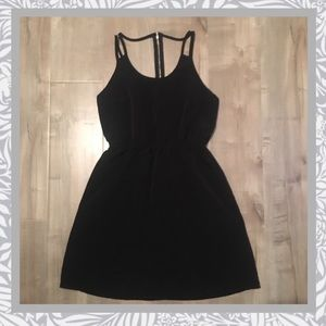 One Clothing Black Double Strap Dress